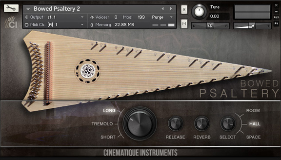 Cinematique Instruments Bowed Psaltery