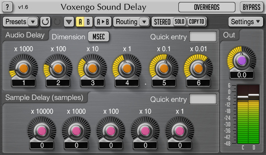 Voxengo Sound Delay