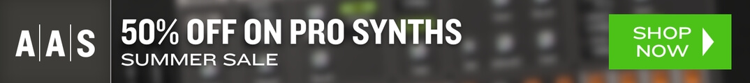 50% off synthesizer plugins in Summer Sale