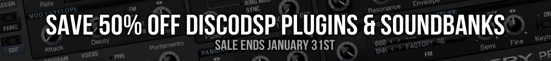 Save 50% off discoDSP plugins