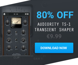 80% off Audioirty TS-1 Transient Shaper plugin