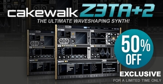 50% off Cakewalk Z3TA+ 2