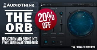 20% off AudioThing The Orb formant filter