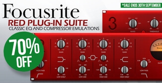 70% off Focusrite Red Plug-In Suite