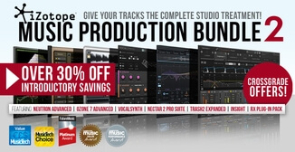 30% off iZotope Music Production Bundle 2