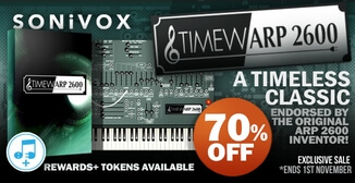 70% off Sonivox TimewARP 2600