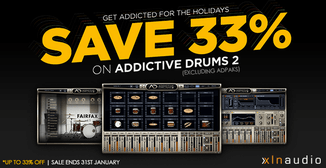 33% off XLN Audio Addictive Drums 2