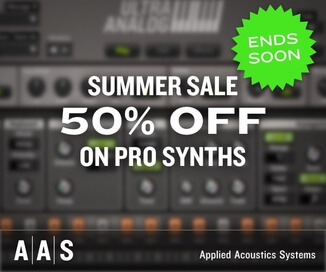 50% off synth instruments at Applied Acoustics Systems