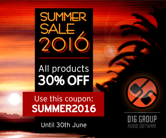30% off at D16 Group Summer Sale