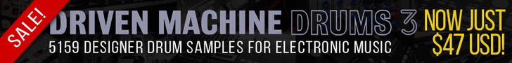 40% off Driven Machine Drums 3