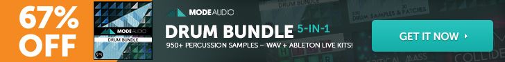 67% off the ModeAudio Drum Bundle