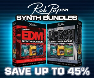 Save up to 45% on Rob Papen plugins