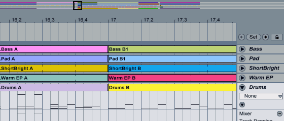 Ableton Live 7 Arrangement View