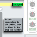 Ableton Live 8 - configure plug-in parameters