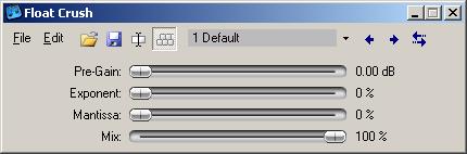 Float Crush (in default Cantabile GUI)