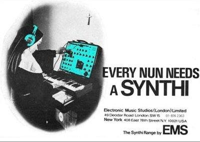 Advertisement for the EMS Synthi AKS