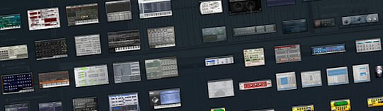 FL Studio plug-in picker screen