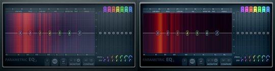 Parametric EQ 2 with modified background