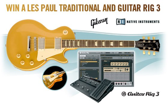 Gibson Les Paul Traditional and Guitar Rig 3 giveaway