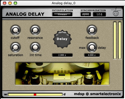 mdsp @ smartexlectronix AnalogDelay VST plug-in