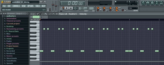 FL Studio 7 pattern