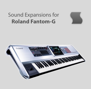 Sinevibes sound expansions for Roland Fantom-G