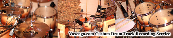 Voxengo Custom Drum Track Recording Service