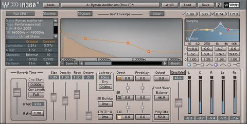 Waves IR360 Surround Parametric Convolution Reverb