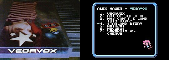Alex Mauer Vegavox on a NES cartridge