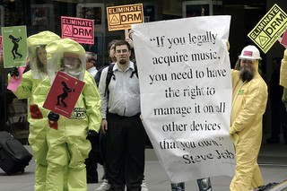 Apple DRM protest