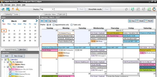 Calgoo Calendar screenshot