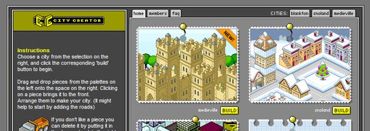 City Builder website screenshot