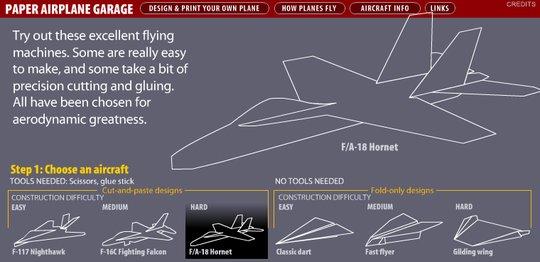F/A-18 Hornet paper plane