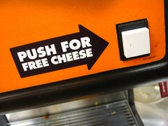 Push For Free Cheese by Vidiot @ Flickr