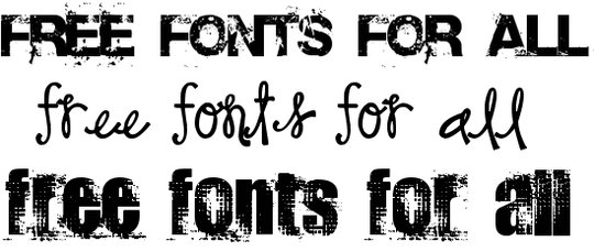 Some free fonts