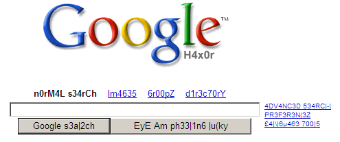 Google Search in H4x0r