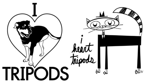 I Heart Tripods T-Shirt designs