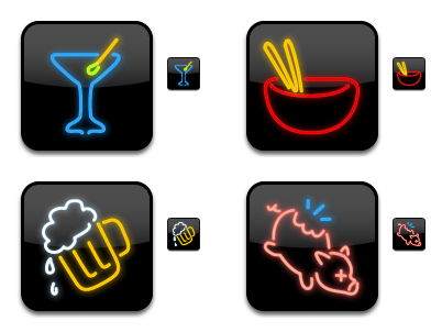 Iconfactory Dine-O-Matic icons