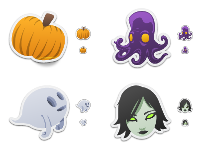 Iconfactory Spooky Stickers