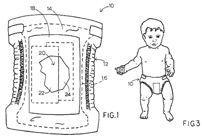 Jamie Lee Curtis, Actress. Patent #4,753,647 — Infant garment
