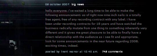 NIN announcement