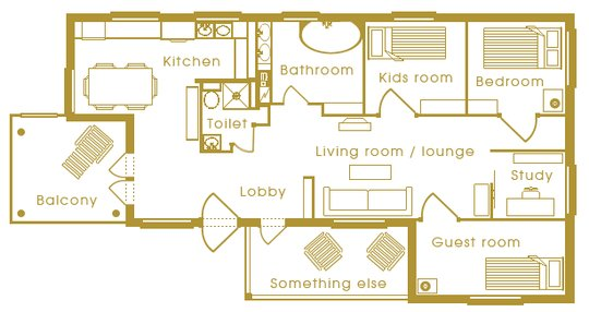 Normal Room floor plan