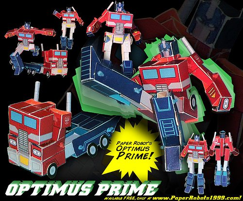 Optimus Prime by PaperRobots1999.com