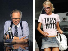 Larry King / Paris Hilton