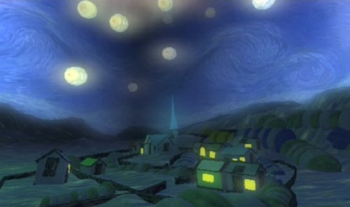 Robbie Dingo's Watch the World(s) - Second Life Machinima of Van Gogh's The Starry Night