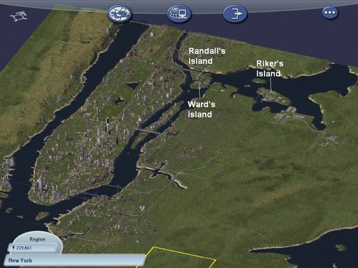 Region Map of NYC in Simcity 4