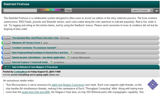 Slashdot Firehose