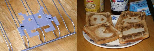 Toaster mod: Retro art toast