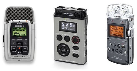 Zoom H2, Marantz PMD 620 and Sony PCM D50