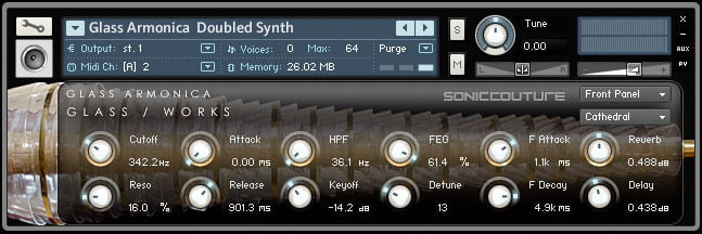 Soniccouture Glass Works - Glass Armonica Doubled Synth in Kontakt